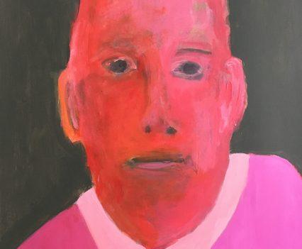 Mann in rot, Portrait gemalt