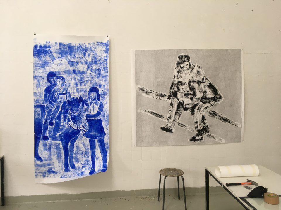 Zwei Kunstwerke in der Europäischen Kunstakademie